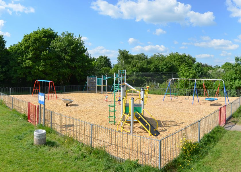 Public sector playground with sand bedding & inclusive play for Local Authority and Town Councils