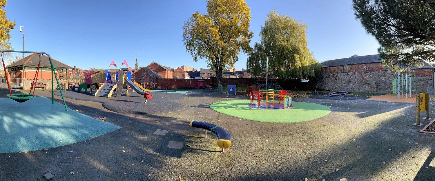 Cae Glas Park Oswestry Play area equipment
