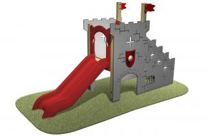 Castle Slide themed unit with a red slide