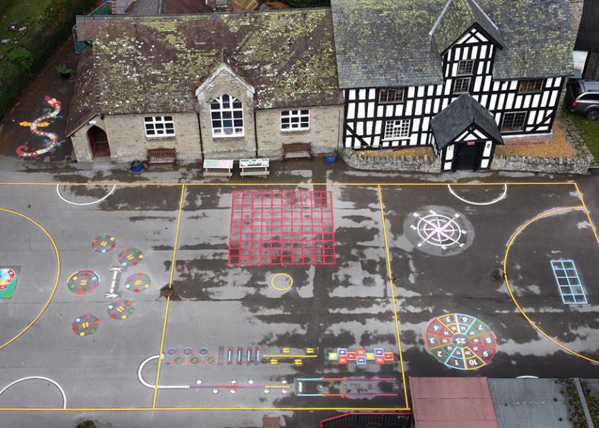Chirbury Primary School Playground Markings