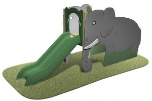 Elephant Slide with Elephants slides and green slide