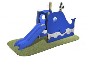 Whale Slide with detailed slides lookouts and blue slide